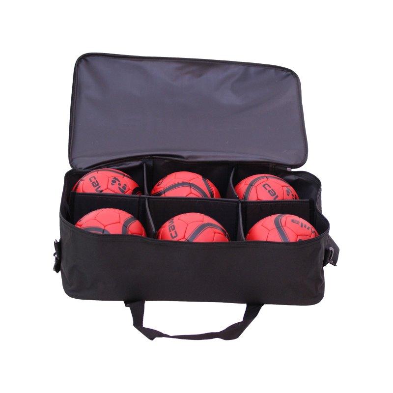 Cawila Balltasche 6 Handbälle Schwarz - schwarz