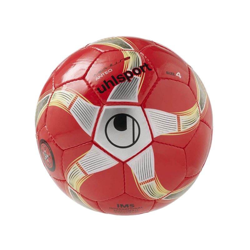 Uhlsport Futsalball Medusa Anteo Gr. 4 Rot Silber Weiss F01 - rot