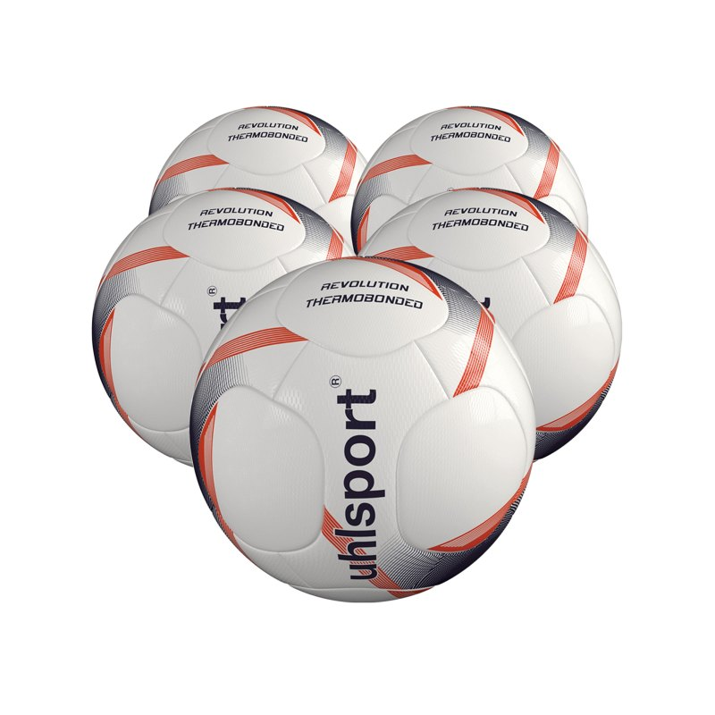 Uhlsport Infinity Revolution 3.0 x5 Gr 5 Fussball F01 - weiss