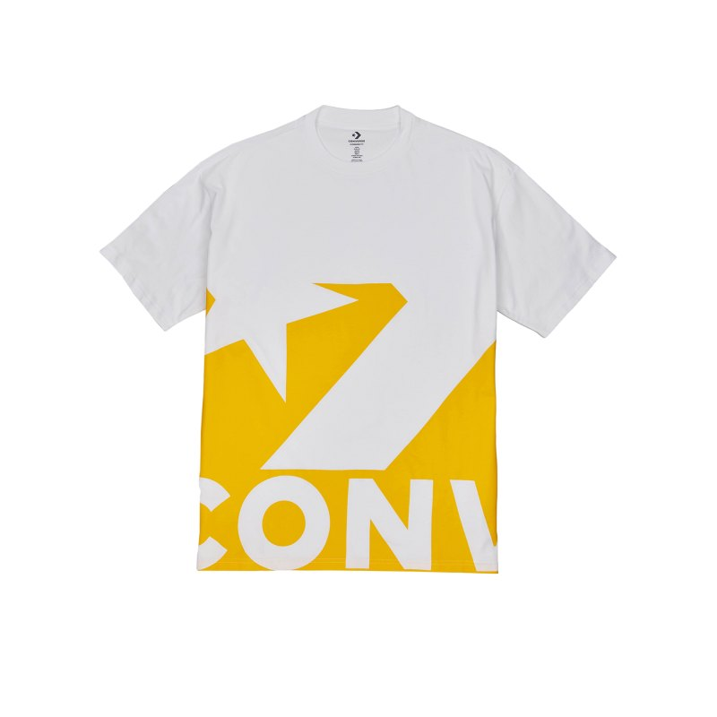 Converse Star Chevron Icon Remix Tee T-Shirt F753 - weiss