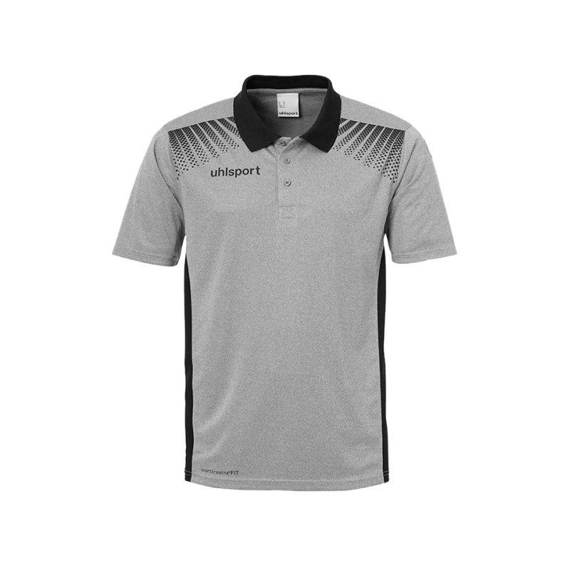 Uhlsport Poloshirt Goal Schwarz F05 - grau