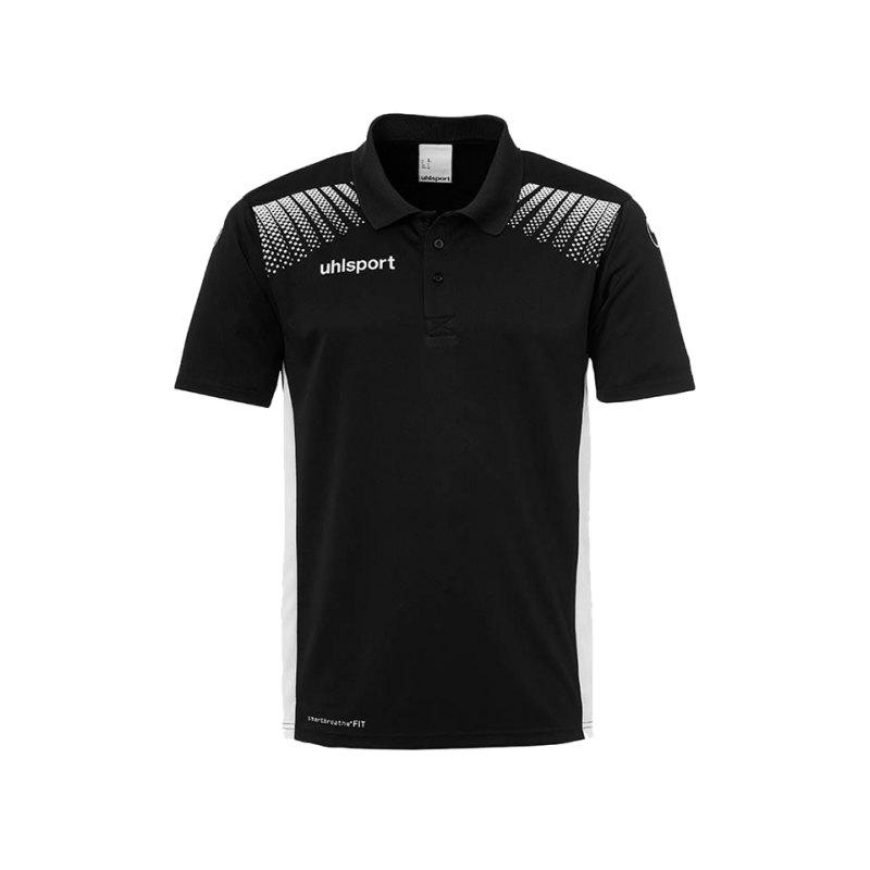 Uhlsport Poloshirt Goal Schwarz Weiss F01 - schwarz