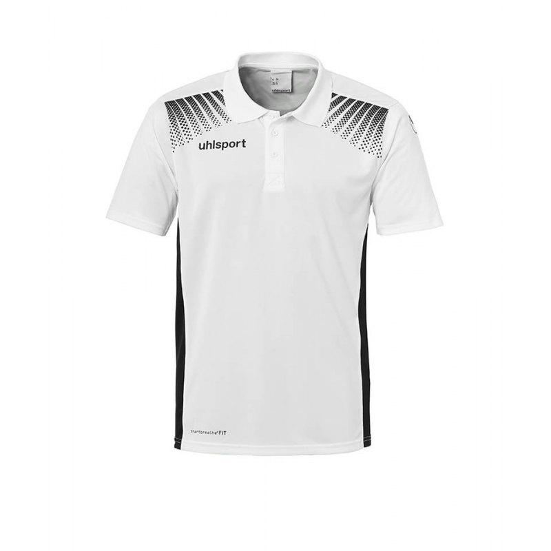Uhlsport Poloshirt Goal Weiss Schwarz F02 - weiss