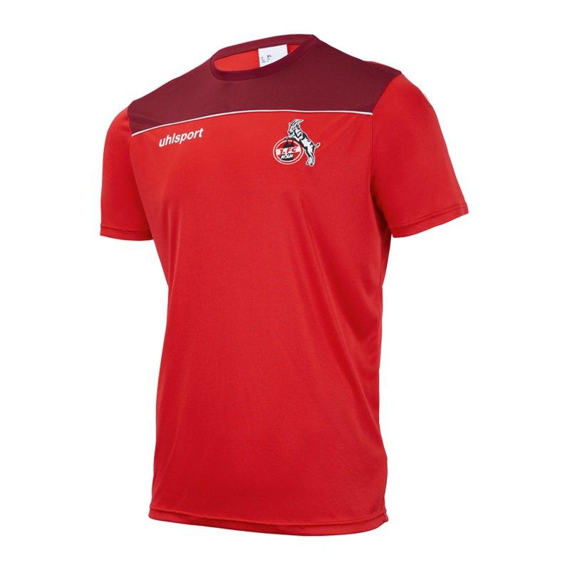 Uhlsport 1. FC Köln Poly T-Shirt Rot Weiss - rot