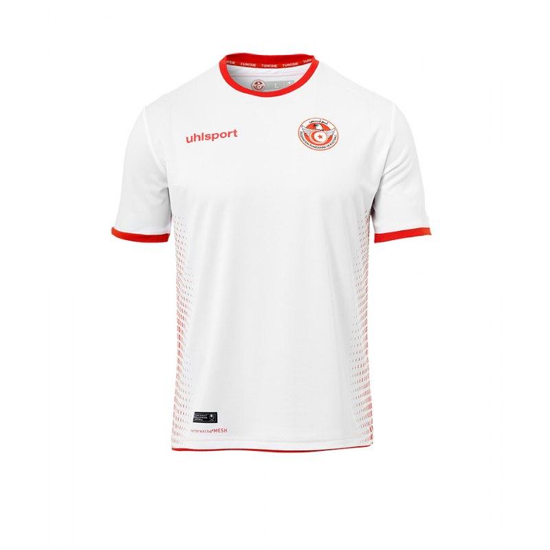 Uhlsport Tunesien Trikot Home WM 2018 Weiss Rot - weiss