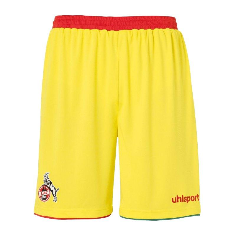 Uhlsport 1. FC Köln Short 3rd 20/21 Kids - gelb