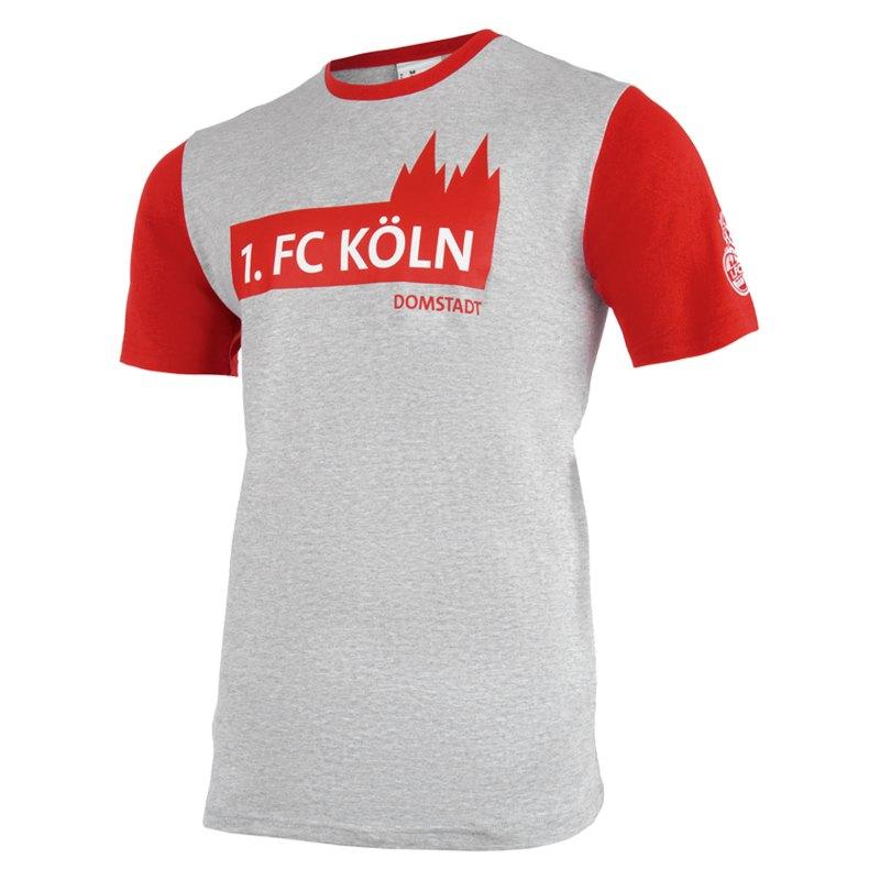 Uhlsport 1. FC Köln 3.0 Freizeit T-Shirt Grau - grau