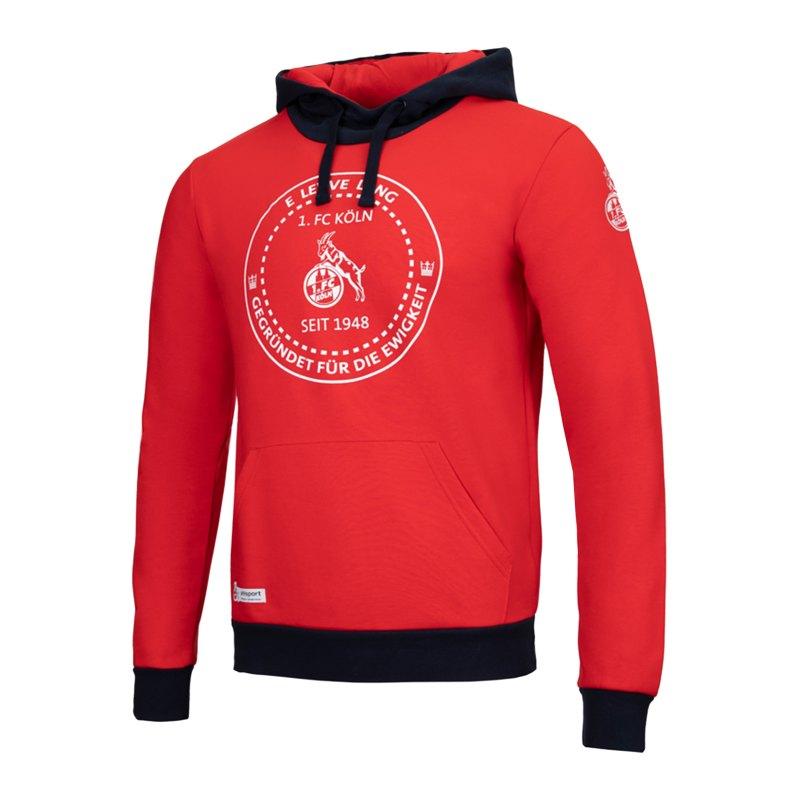 Uhlsport 1. FC Köln Xmas Hoody Rot - rot