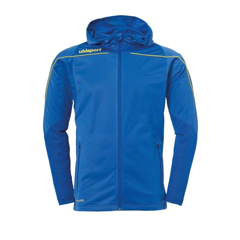 Uhlsport Stream 22 Kapuzenjacke Blau Gelb F14 - Blau
