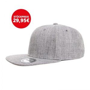 FuPa 20x Vereins-Cap Schriftzug Grau - grau