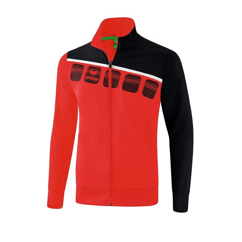 Erima 5-C Präsentationsjacke Rot Schwarz - Rot