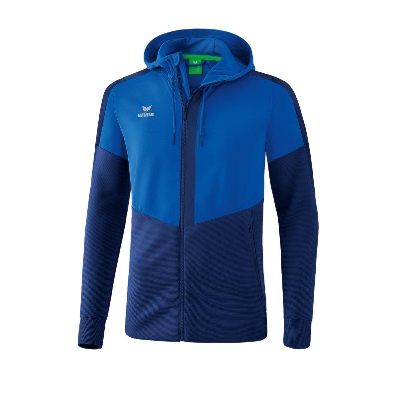 Erima Squad Kapuzen-Trainingsjacke Blau - blau