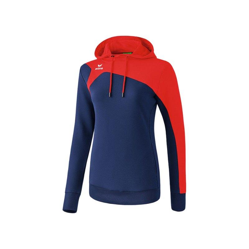 Erima Club 1900 2.0 Kapuzensweat Damen Blau Rot - blau