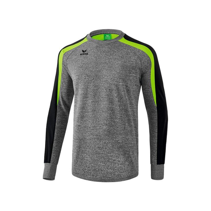 Erima Liga 2.0 Sweatshirt Kids Grau Schwarz Grün - grau