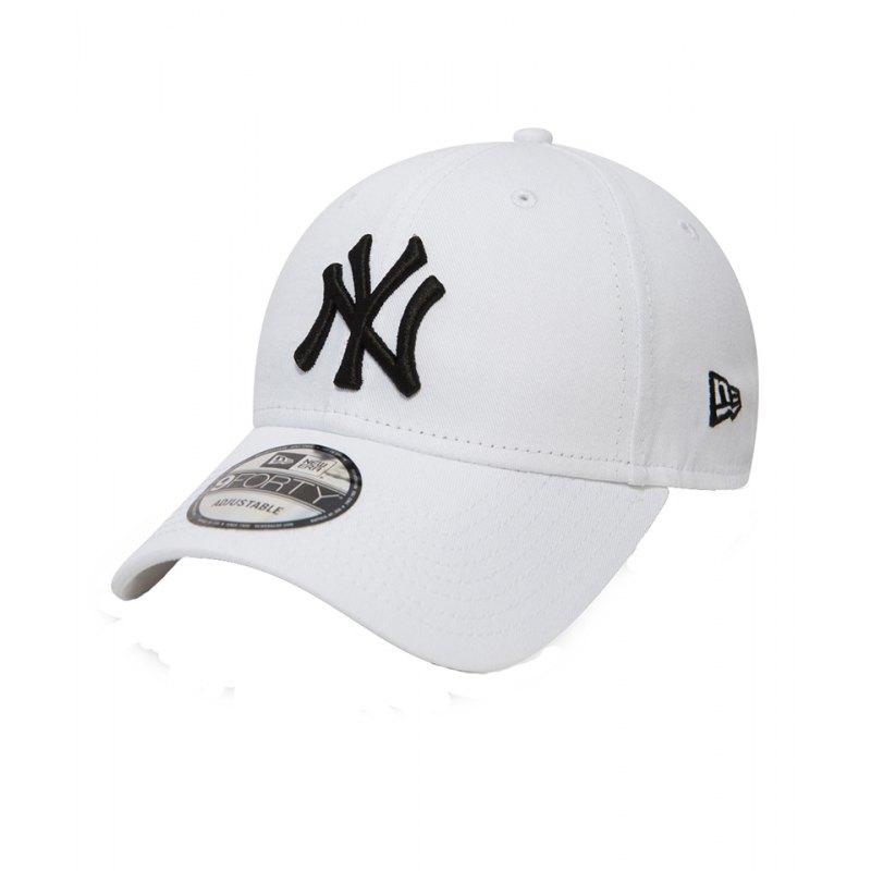 New Era NY Yankees 9Forty Cap Weiss Schwarz - weiss
