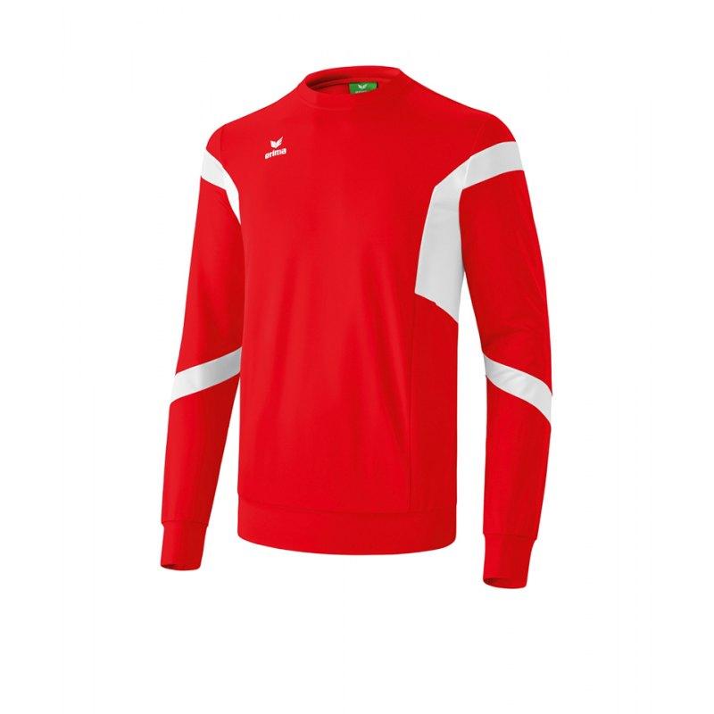 Erima Classic Team Sweatshirt Rot Weiss - rot