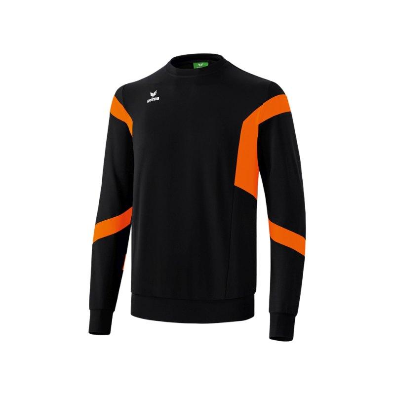 Erima Classic Team Sweatshirt Schwarz Orange - schwarz