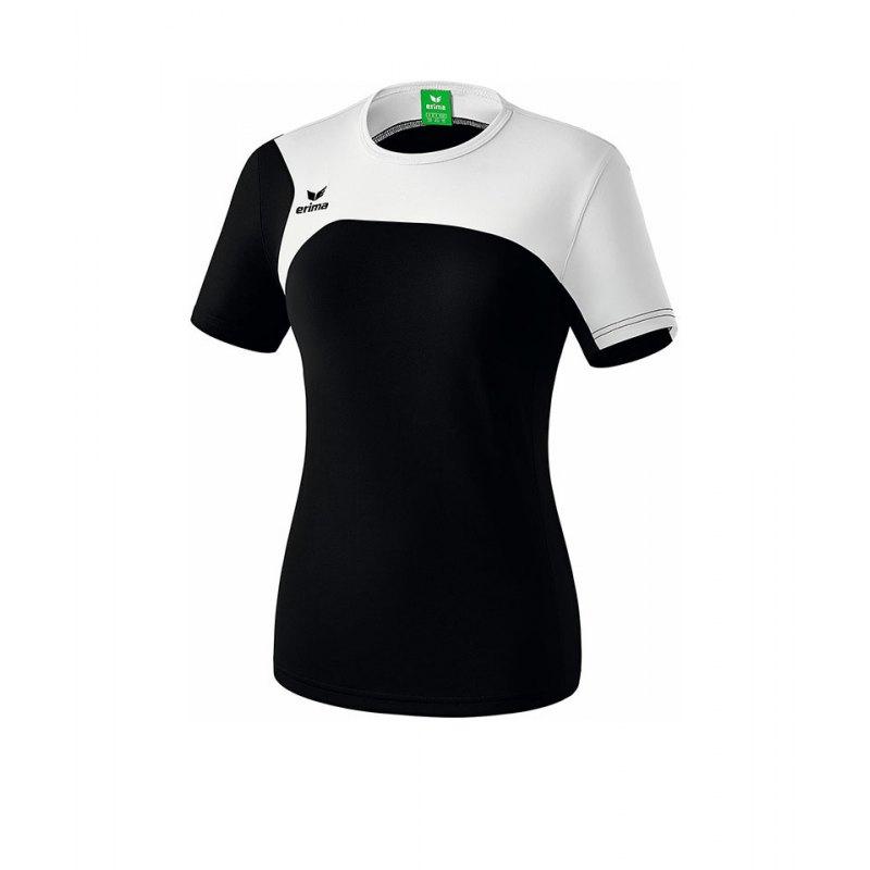 Erima T-Shirt Club 1900 2.0 Damen Schwarz Weiss - schwarz