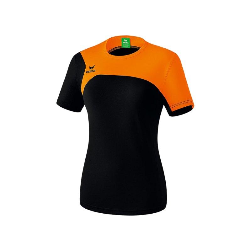 Erima T-Shirt Club 1900 2.0 Damen Schwarz Orange - schwarz