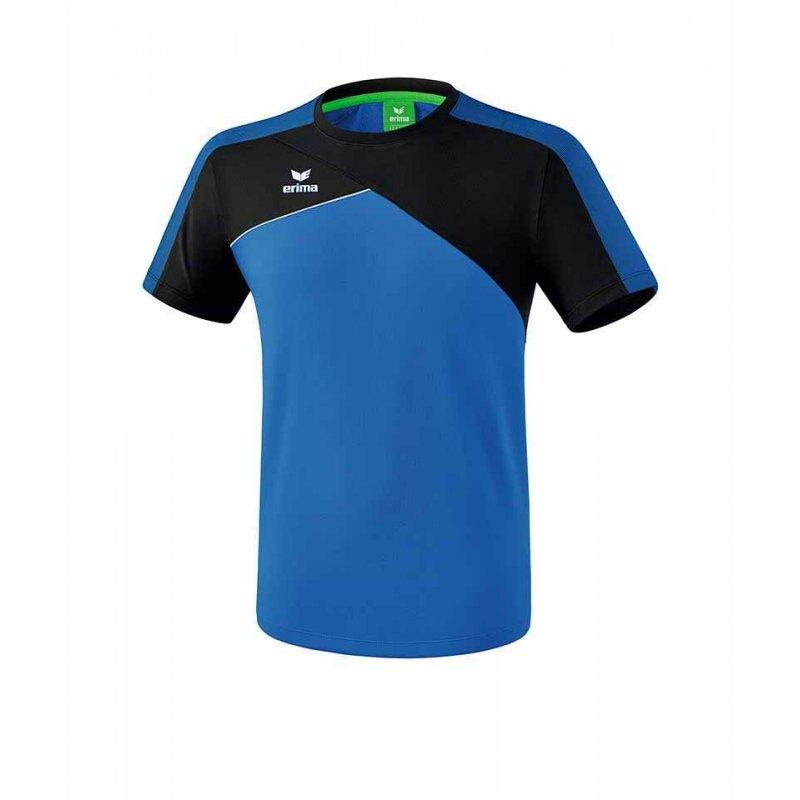 Erima Premium One 2.0 T-Shirt Blau Schwarz - blau