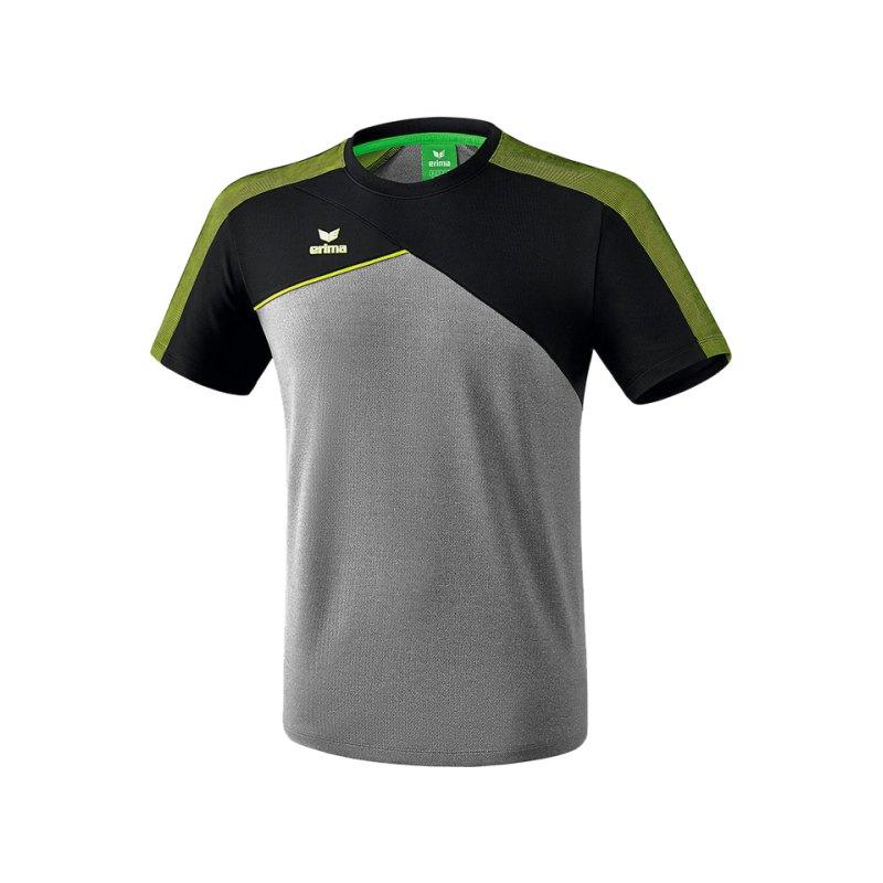 Erima Premium One 2.0 T-Shirt Kids Grau Grün - grau