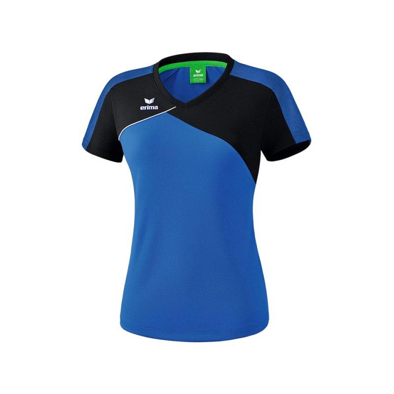 Erima Premium One 2.0 T-Shirt Damen Blau Schwarz - blau