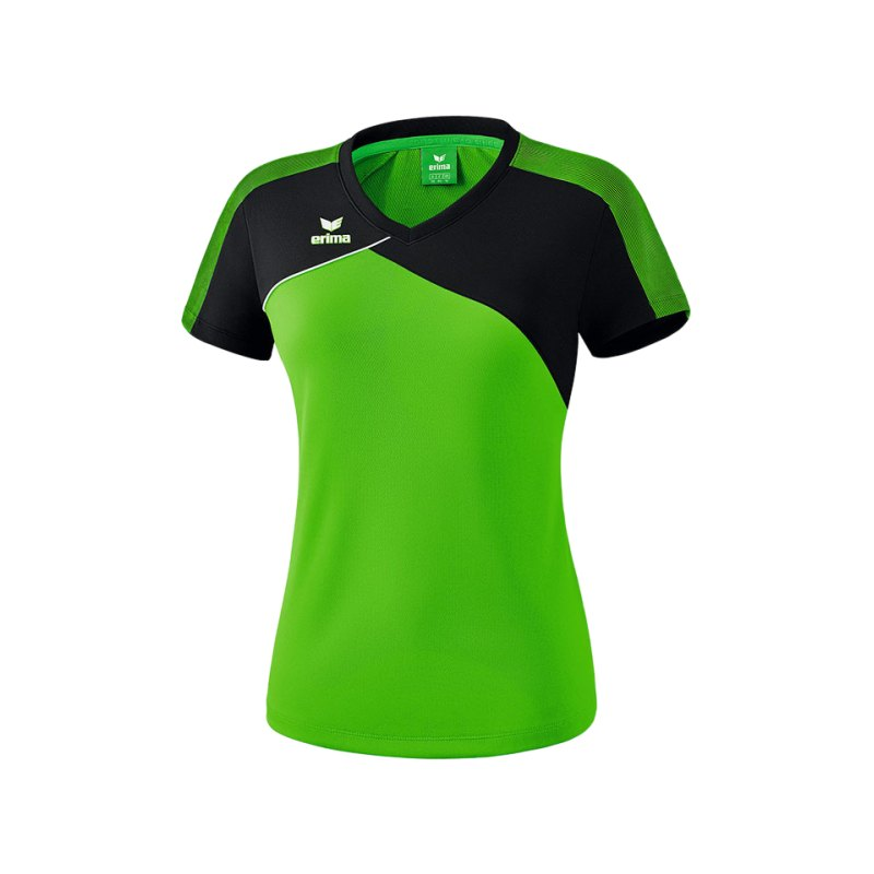 Erima Premium One 2.0 T-Shirt Damen Grün Schwarz - gruen