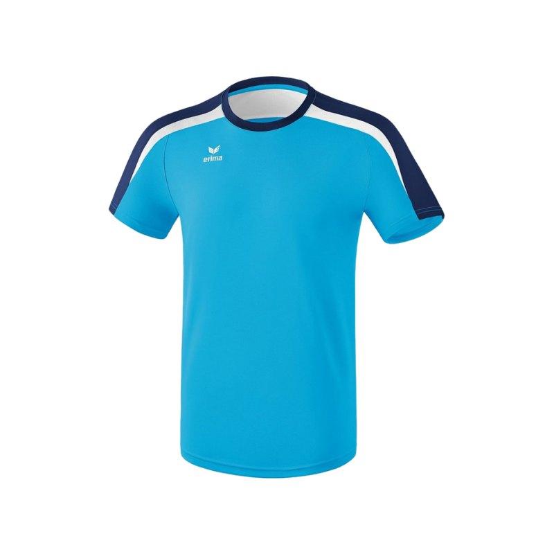 Erima Liga 2.0 T-Shirt Hellblau Blau Weiss - blau
