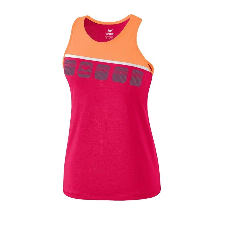 Erima 5-C Tanktop Kids Pink Orange - Pink
