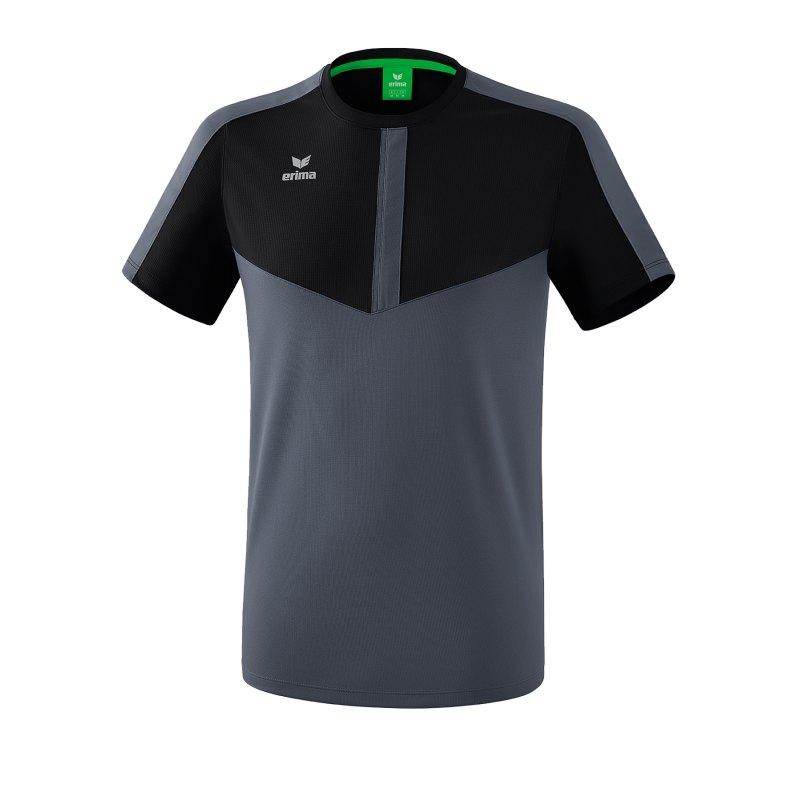 Erima Squad T-Shirt Schwarz Grau - schwarz