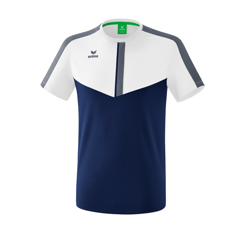 Erima Squad T-Shirt Weiss Blau - weiss