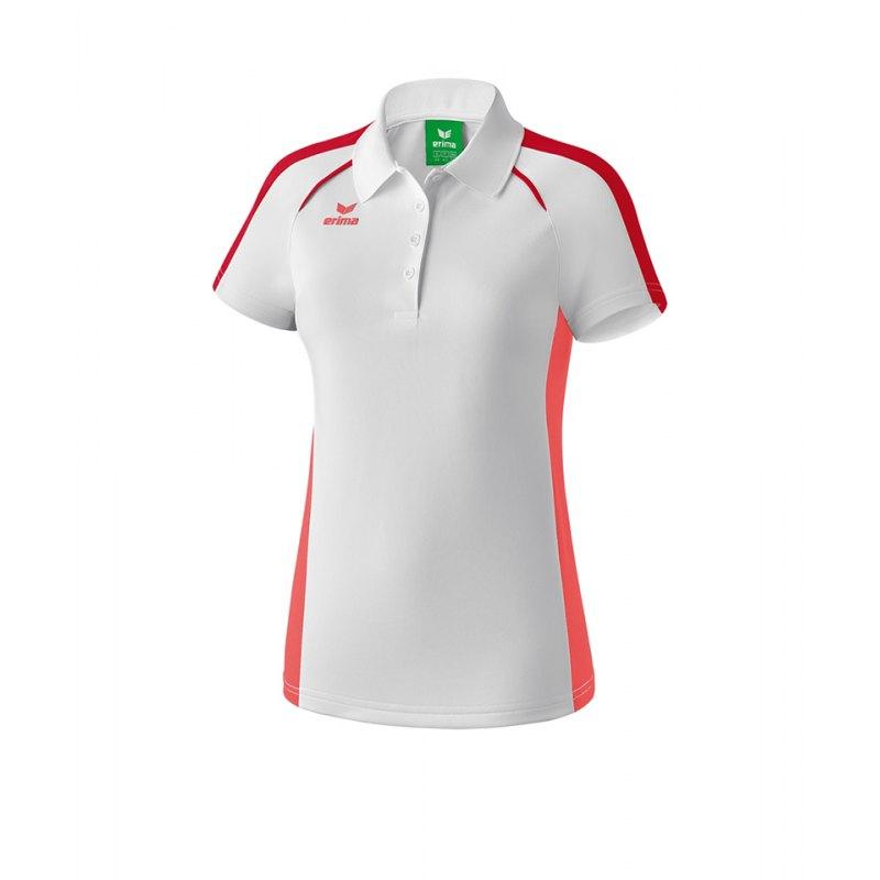 Erima Masters Poloshirt Damen Weiss Rosa - weiss