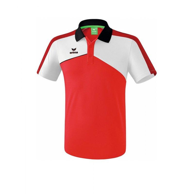 Erima Premium One 2.0 Poloshirt Rot Weiss - rot