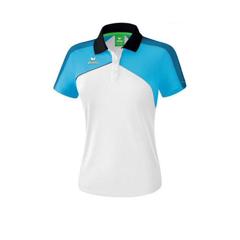 Erima Premium One 2.0 Poloshirt Damen Hellblau - blau