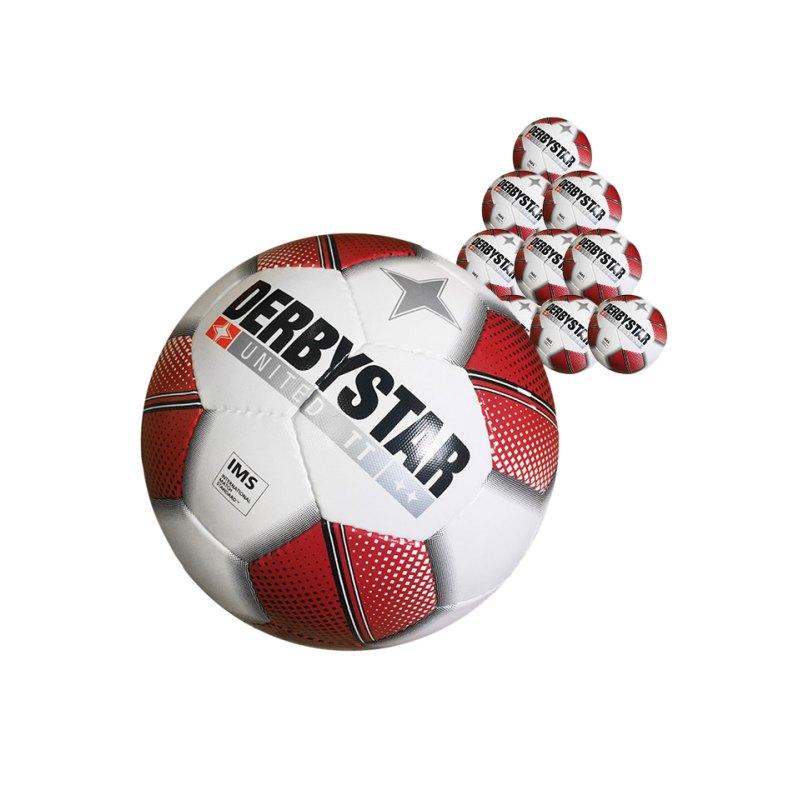 Derbystar United TT 20xFussball Weiss - weiss