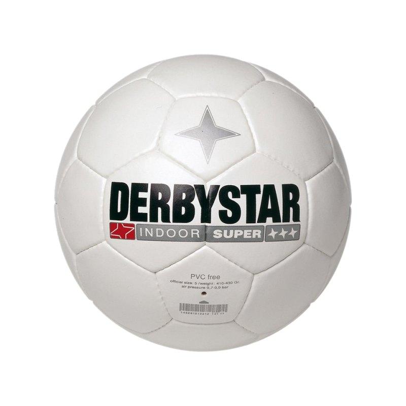 Derbystar Fussball Indoor Super Weiss - weiss
