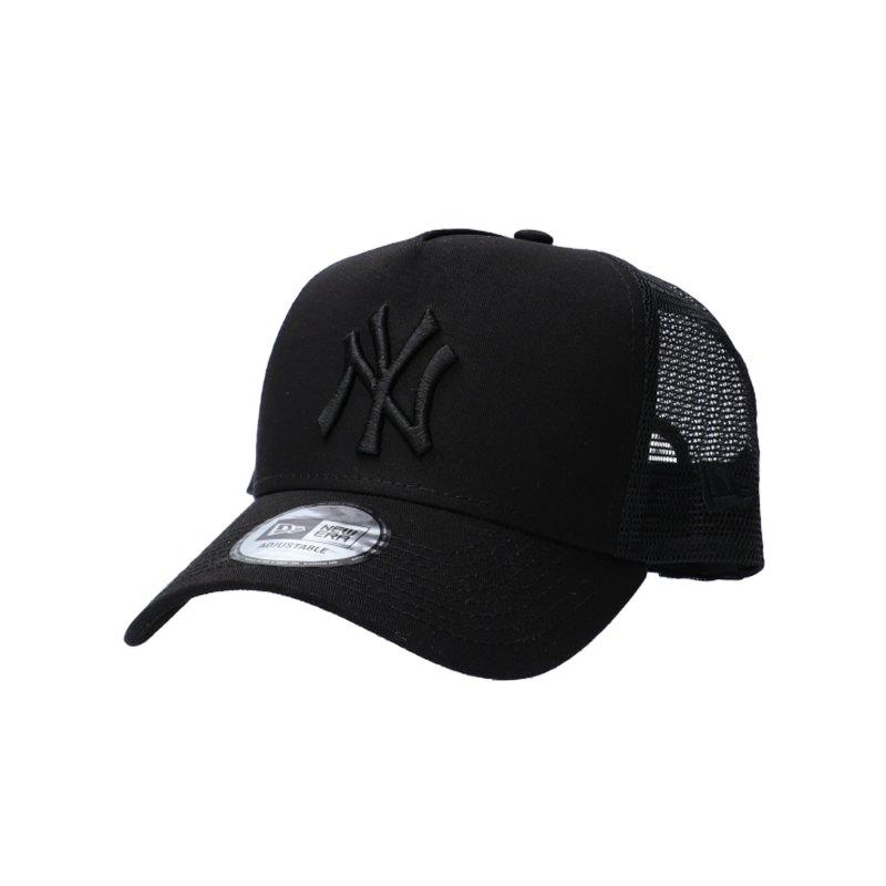 New Era Clean Trucker New York Yankees Cap Schwarz - schwarz