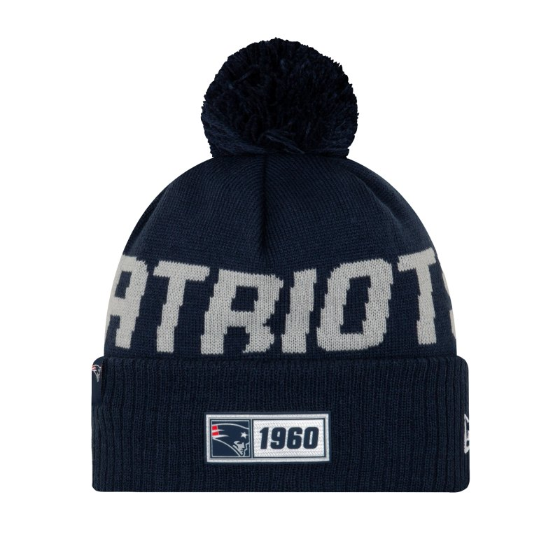 New Era New England Patriots RD Strickmütze Blau - blau
