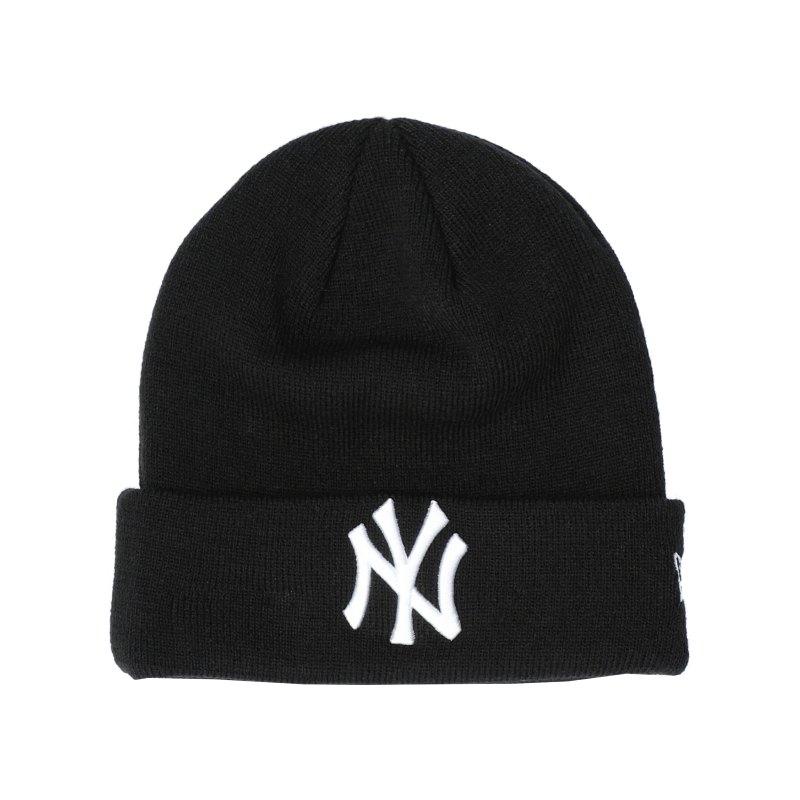 New Era NY Yankees Cuff Beanie Schwarz FBLKWHI - schwarz