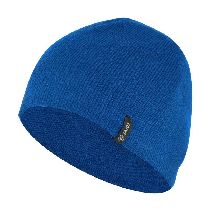 Jako Strickmütze 2.0 mit Fleeceinnenfutter F04 - blau