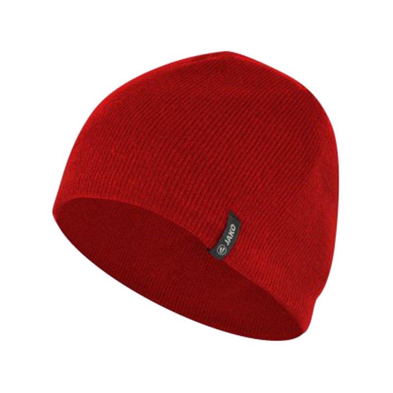 Jako Strickmütze 2.0 mit Fleeceinnenfutter Rot F01 - rot