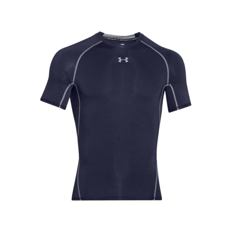 Under Armour T-Shirt Heatgear Compression F410 - blau