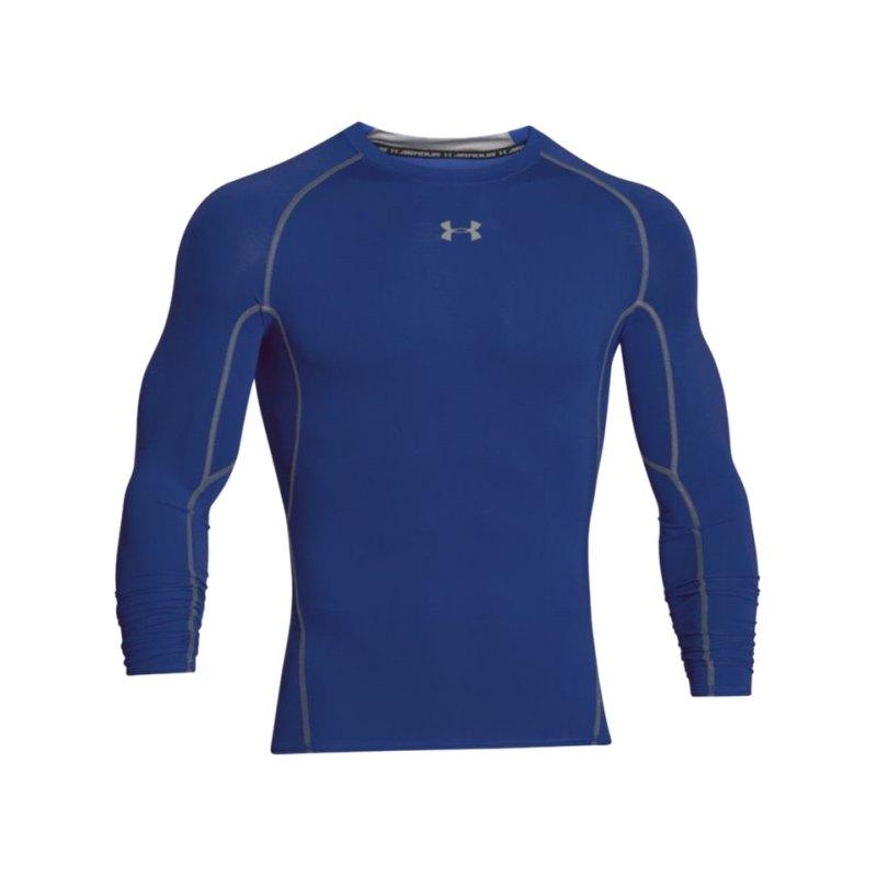 Under Armour LS Shirt Heatgear Compression F400 - blau