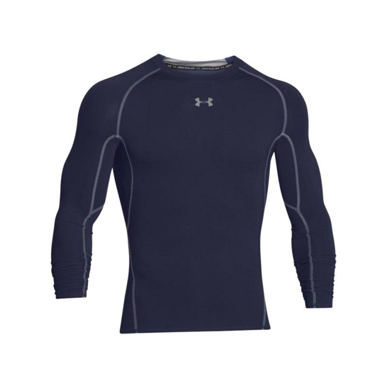 Under Armour LS Shirt Heatgear Compression F410 - blau