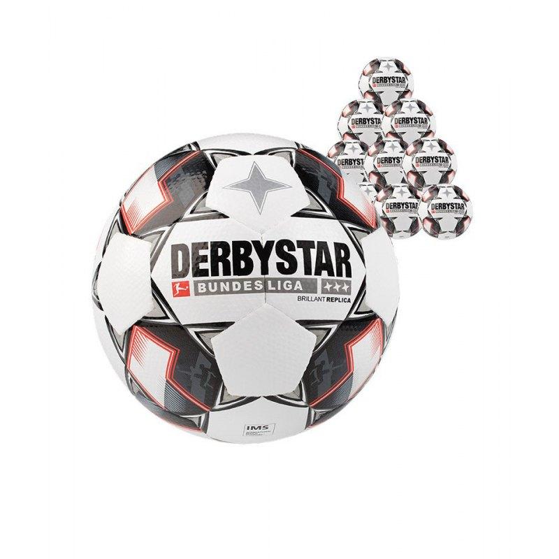 Derbystar Bundesliga Brillant APS Replica 20xFussball Weiss F123 - weiss