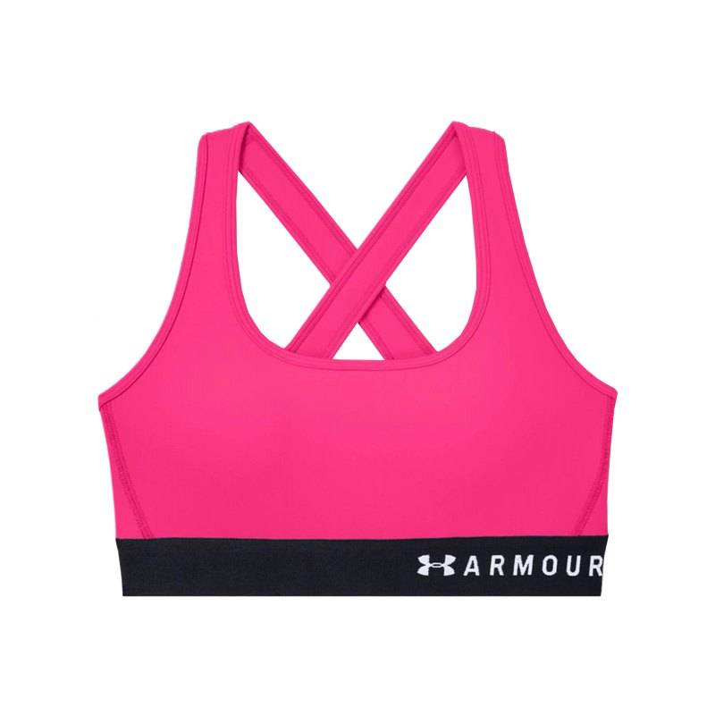 Under Armour Mid Crossback Sport-BH Damen F653 - pink