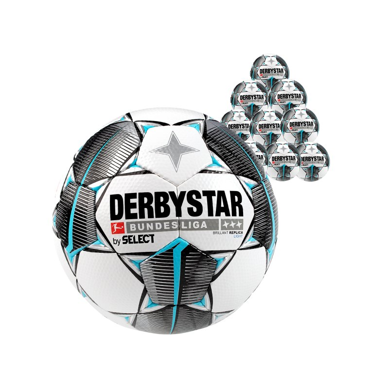 Derbystar Bundesliga Bril. Replica Light 10x Gr.5 Weiss F019 - weiss