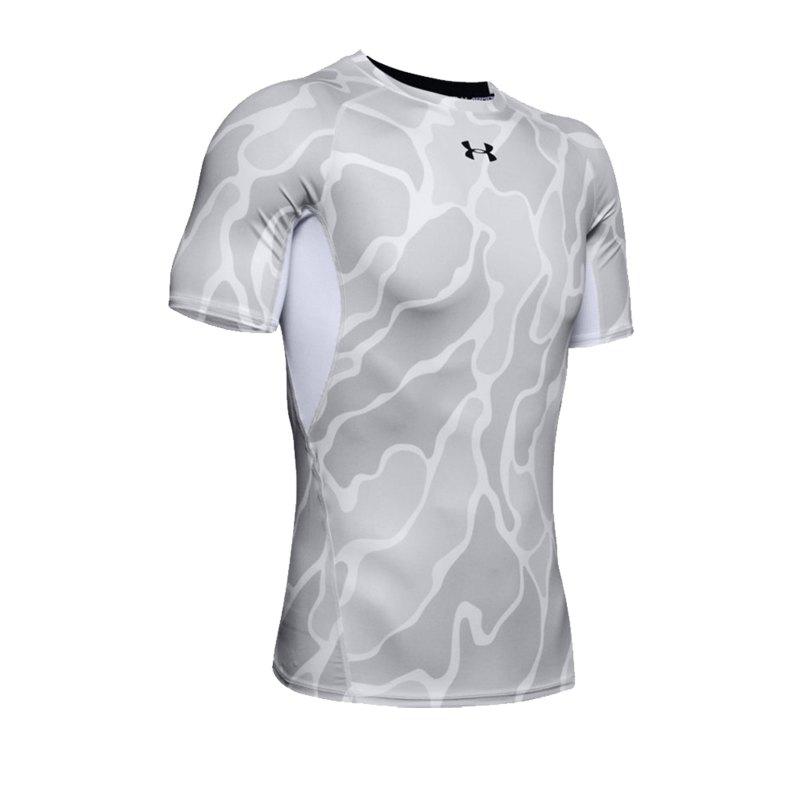 Under Armour Heatgear Print T-Shirt Weiss F101 - weiss