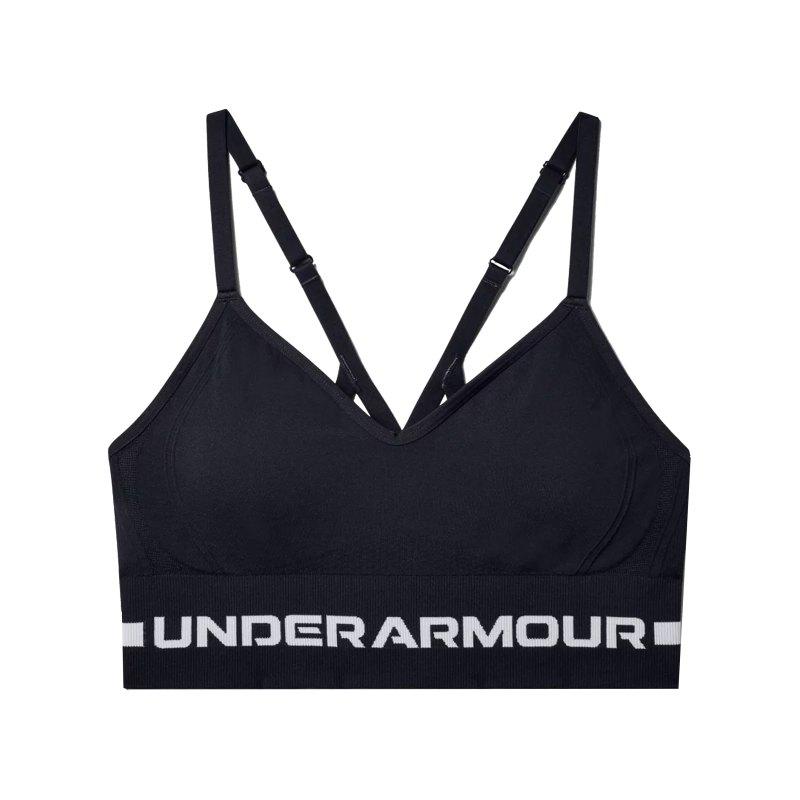 Under Armour Seamless Low Long Sport-BH Damen F001 - schwarz