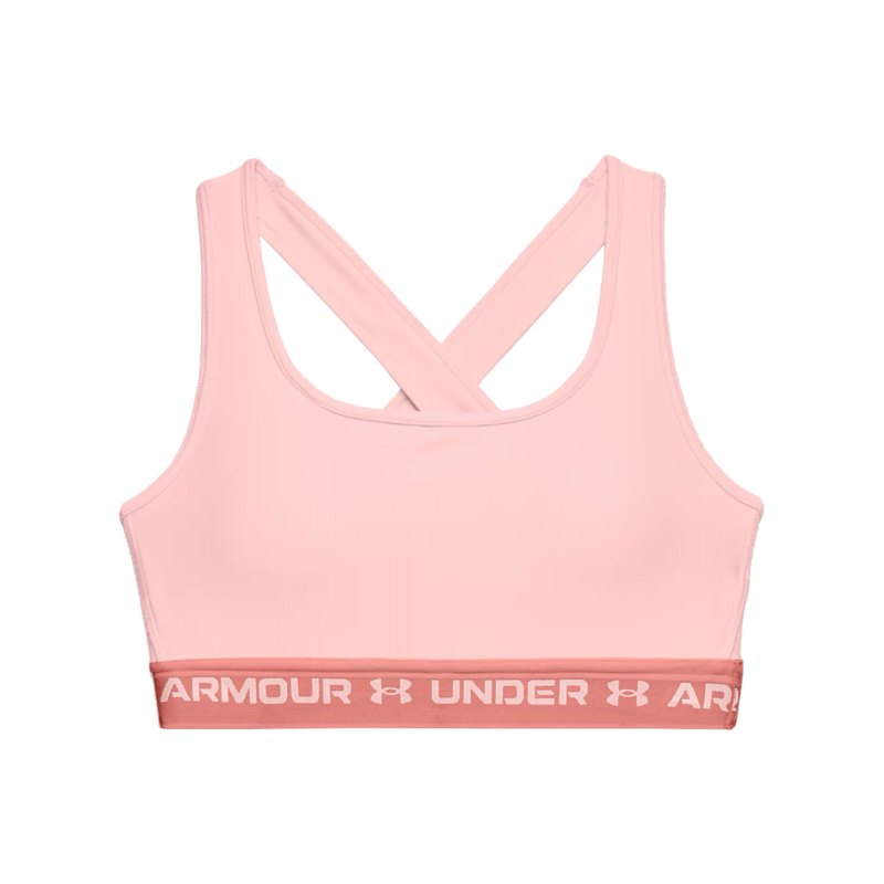 Under Armour Crossback Mid Sport-BH Damen F658 - rosa